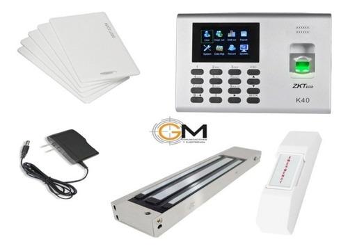 Kit Control De Acceso Biometrico K40,electroiman,boton