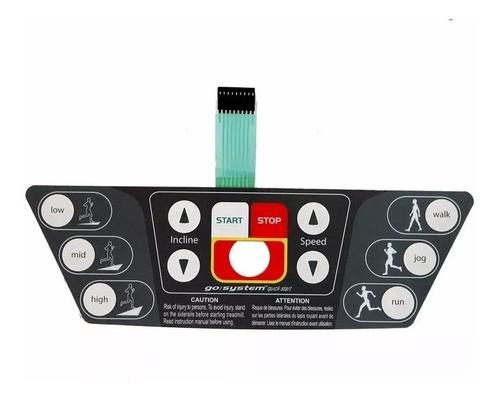 Imagem 1 de 1 de Teclado De Membrana Para Esteira T3 Life Fitness