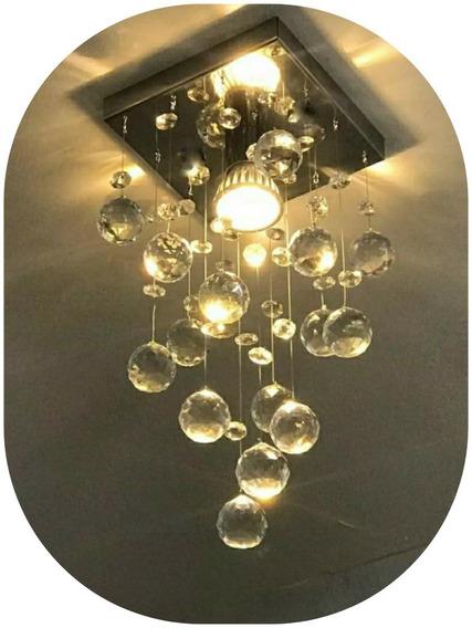 Lustre De Cristal Verdadeiro K9 Vai Montado Sala Quarto