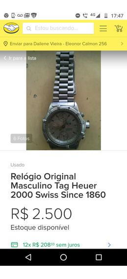 Relógio Semi-novo Tag Hauer Pra Colecionador