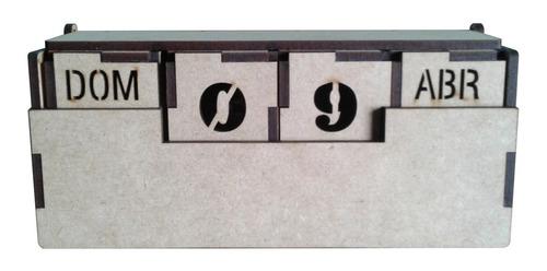 Calendario Cubos Mdf