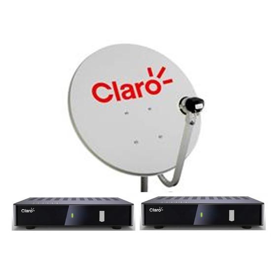 Kit Claro Tv Pré-pago 2 Receptores Digital + Antena 60 Cm