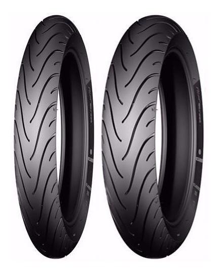 Par Pneu Moto Dafra Apache 150 Michelin Original Sem Juros