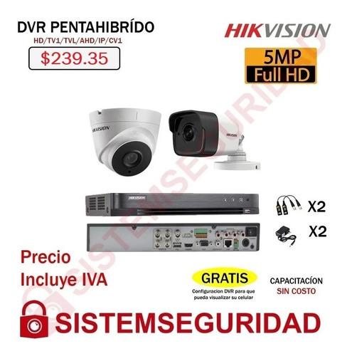 Imagen 1 de 7 de Kit 2 4 6 8 10 16 Camaras De Seguridad 5mp Cctv Hikvision