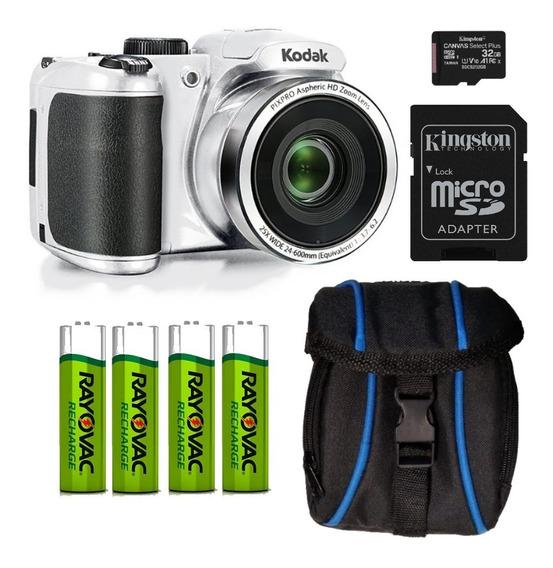 Combo Kodak Az252 Blanca Mem 32g Bolso 4 Pilas Aa Sony Rec