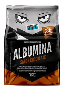 Clara De Ovo Desidratada 500g Albumina Proteína Pura 7 Sabor