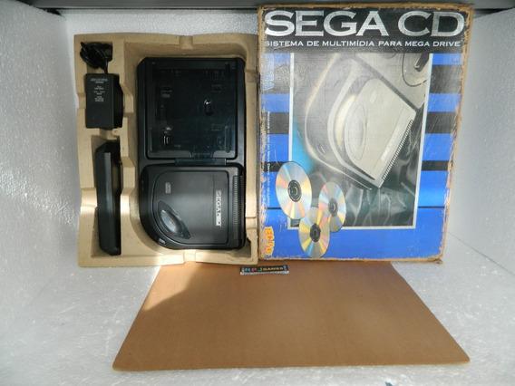 Sega Cd Na Caixa Com Acessórios - Loja No Centro Do Rj
