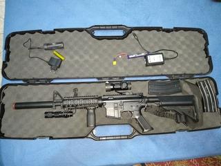 Equipamento De Airsoft Aeg+pistola+rádio Semi Novos