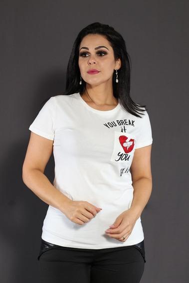 Camiseta Blusa T-shirt Feminina Manga Curta Love