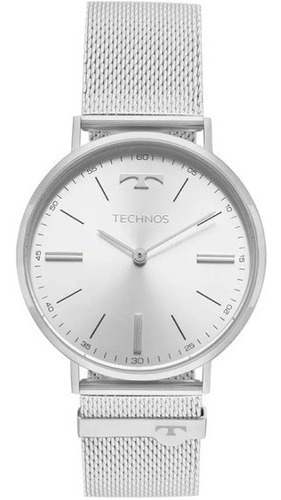 Relógio Slim Technos 2025tl/1k Prata