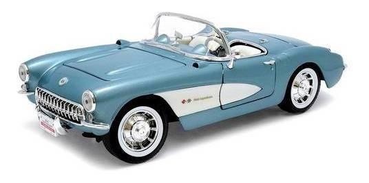 1957 Chevrolet Corvette Azul - Escala 1:18 - Yat Ming