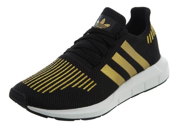 Tenis adidas Swift Run W Negro/oro Cg4145