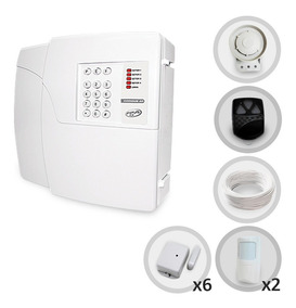 Kit Central De Alarme Sem Fio Com 8 Sensores + Discadora Ppa