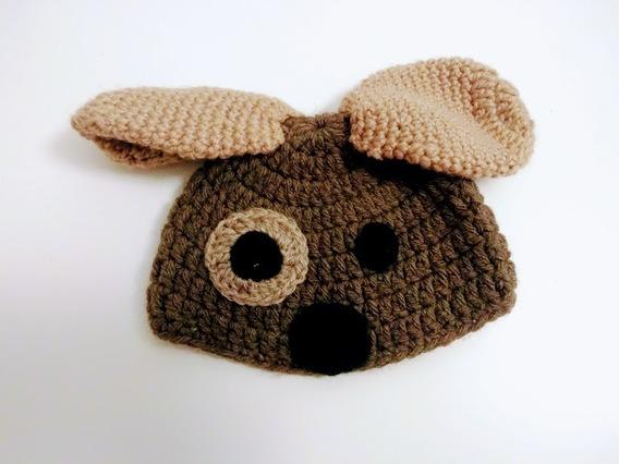 Gorro Tejido Crochet Artesanal Perro Para Bebe