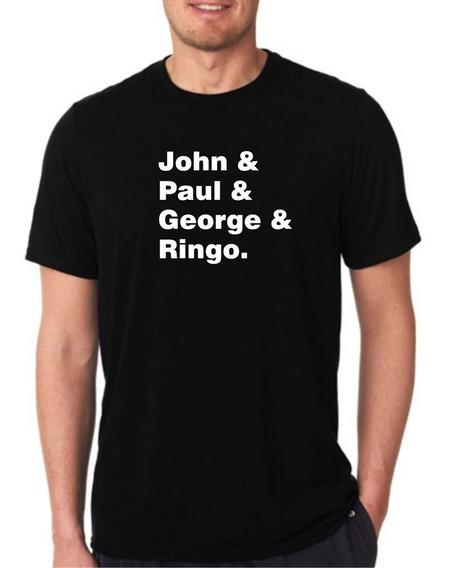 Camiseta Beatles John & Paul & George & Ringo.