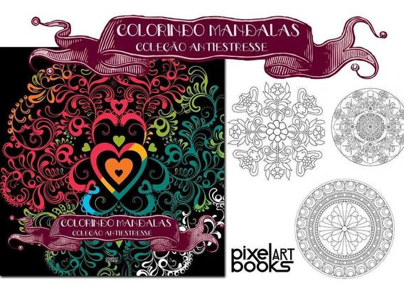 Livro Sketchbook Desenho Tatoo Tatuagem Colorindo Mandalas