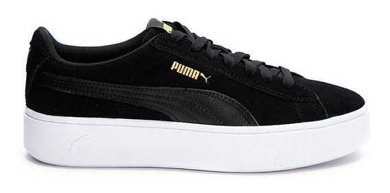Zapatilals Puma Vikky Stacked Suede Negro - Corner Deportes