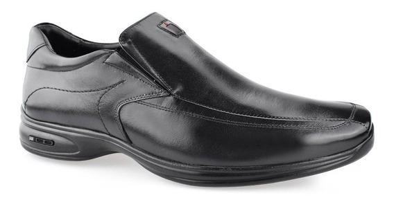 Sapato Social Air Bag Jota Pê Masculino Conforto Nº44 Ao 48 Preto