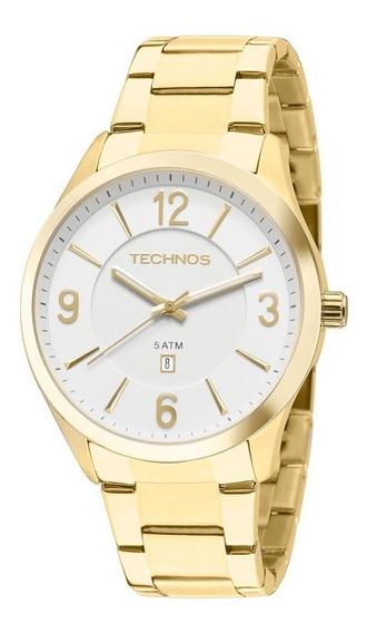 Relógio Technos Dourado Unissex Classic Steel 2015byytd/4b