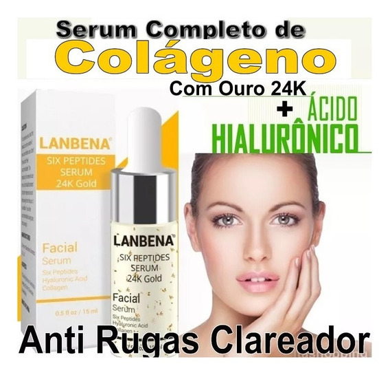Serum Completo Colágeno + Hialurônico Ouro 24k Botox