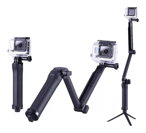 Bastão Monopod Retrátil Gopro Hero 5 4 3 3 + Tripe 3 Way