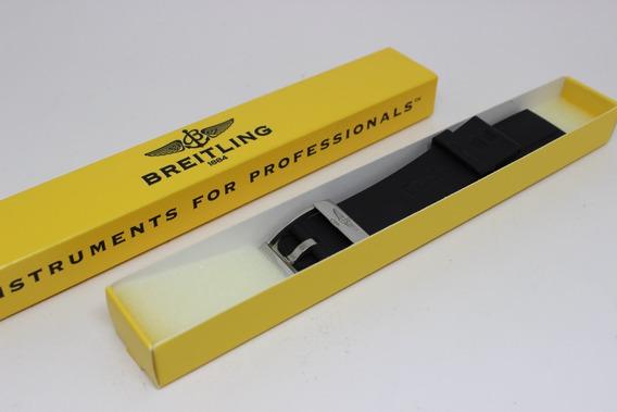 Breitling - Pulseira Em Borracha + Fecho 22x20 Mm