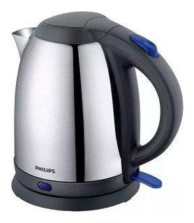 Pava eléctrica Philips HD9306 Daily Collection plateada metálica y azul 230V 1.5L