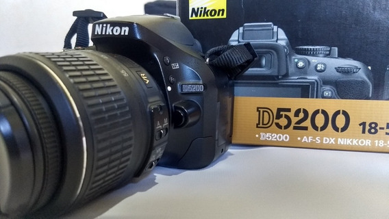 Câmera Dslr Nikon D5200 - Brindes