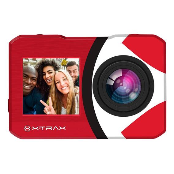 Câmera De Ação Xtrax Selfie 4k 16mp Vermelha
