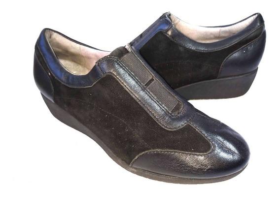 Clarks Zapatos 100% Cuero Forrado Comodísimos Impecables
