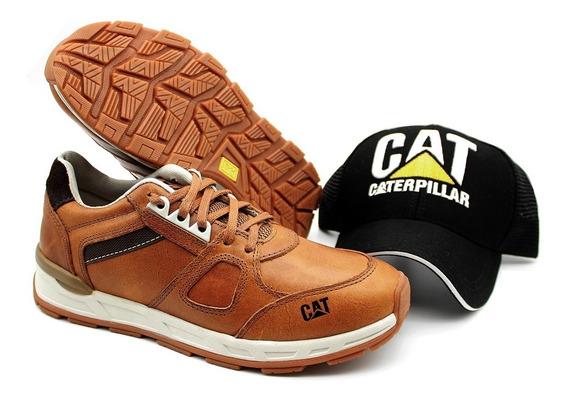 Tênis Masculino Caterpillar Sapatenis Woodward + Boné Cat