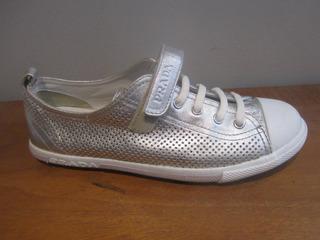 Prada Sneakers Tenis Casual P/dama Talla 22.5 Cm Origin T142
