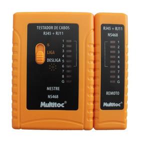 Testador Para Cabo De Rede Rj11/rj45 Multitoc - Ns468