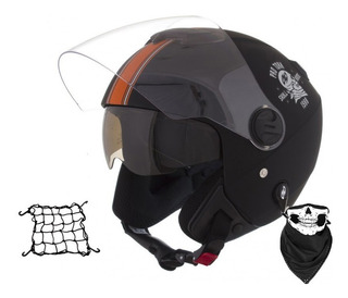 Capacete Skull Riders Aberto Moto Harley Davidson + Bandana
