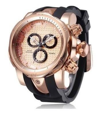 Relógio Masculino Shhors 1216 Moda Re Quartzo - Dourado