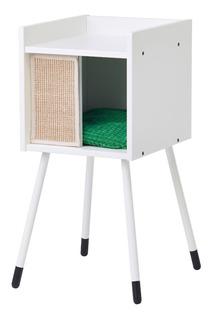 Ikea Casa Para Gato Con Patas Y Almohadilla Blanco Verde