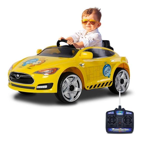 Carrinho Elétrico Infantil Sport Com Controle Amarelo 6v