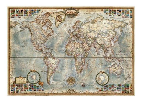 16005 El Mundo Mapa Político Rompecabezas 1500 Piezas Educa