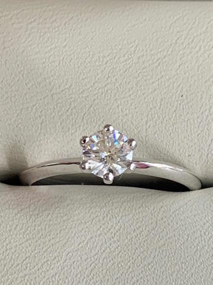 Anillo De Compromiso Diamante Certificado Gia .50 F Si2