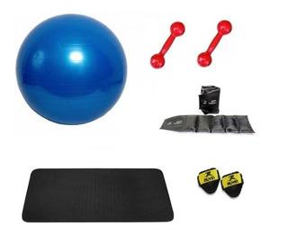 Kit Ginastica Com Bola Suíça Para Pilates E Acessórios Fit