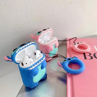 Funda Stitch Azul Para AirPods Inpods I12 Originales