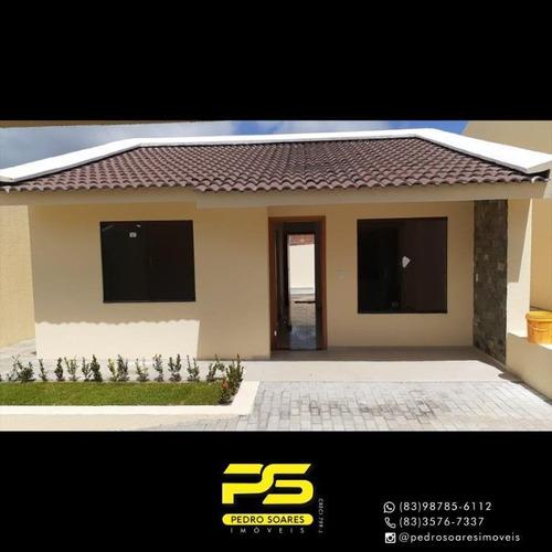 Casa Com 2 Dormitórios À Venda, 120 M² Por R$ 199.900 - Carapibus - Conde/pb - Ca0880