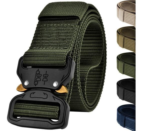 Cinturón Táctico Tipo Asalto Militar Hebilla Metal