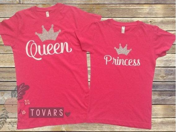 Set De Playeras Para Madre E Hija Queen And Princess
