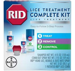 Tratamiento Completo Rid Piojos Control Incluye Peine
