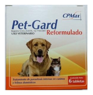 Desparasitante Para Perros Gatos 6 Tabletas Para 10 Kg C/u.