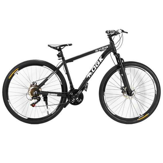 Bicicleta Qgk Aro 29 Freio À Disco 21 Marchas Preta E Branca