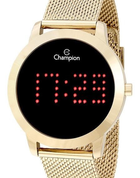 Relógio Champion Feminino Digital Dourado