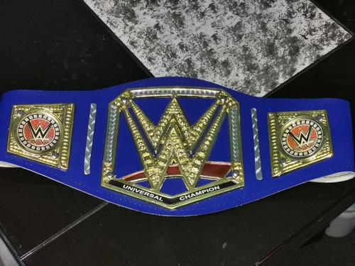 Cinturon De Luchador Wwe Azul Para Adulto