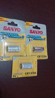 Combo X 3 Unid $599 Pila Cr 123a Lithium 3v Sanyo Japón !!!